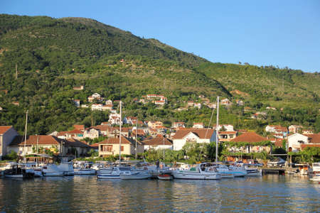 Yachts and boats in marina of Tivat, Montenegro
