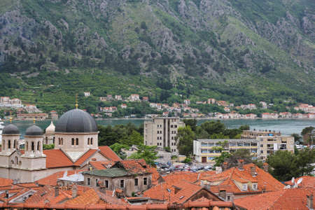 old church in old town of Kotor, Montenegro photo