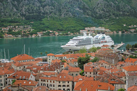 View to the ancient town of Kotor in Montenegro photo