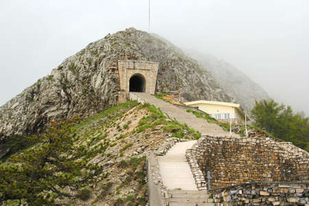 petrovich: Ancient stairs and tunnel on the Lovcen mountain in Montenegro