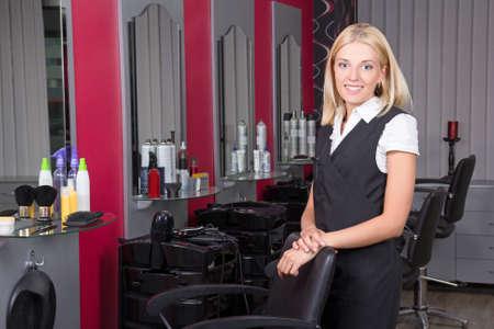 professional female hairdresser in beauty salon Stock Photo - 21223543