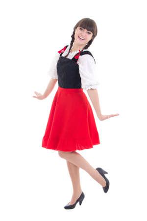 dirndl dress: beautiful german girl in dirndl dress Stock Photo