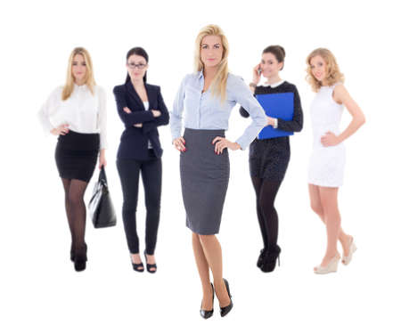 young attractive business women isolated on white background photo