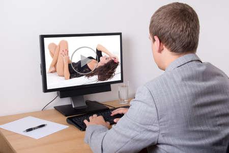 Erotic video office
