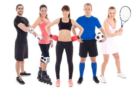 different sports concept - young people in spotswear isolated on white background photo