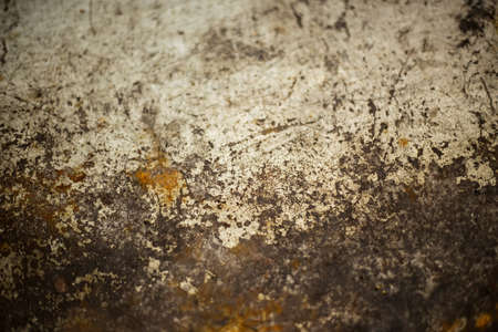 oxidation: background - close up of metal table with rust