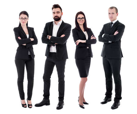 young business people in black suits isolated on white background Фото со стока - 132488321
