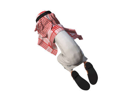 3d rendering of a Stylized Middle Eastern Man. Stok Fotoğraf