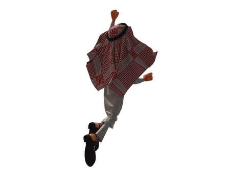 3D rendering of a Stylized Middle Eastern Man. 版權商用圖片