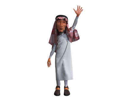 3D rendering of a Stylized Middle Eastern Man. Фото со стока