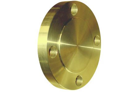 Yellow blind flange