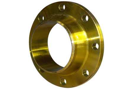 Flange with yellow collar