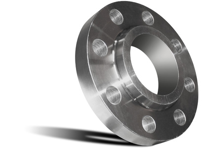 Stainless steel welding flange Stock Photo
