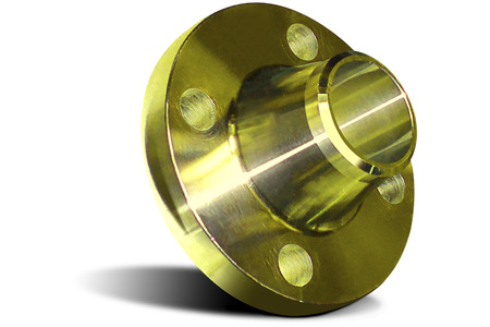 Yellow flange with collar Stock Photo