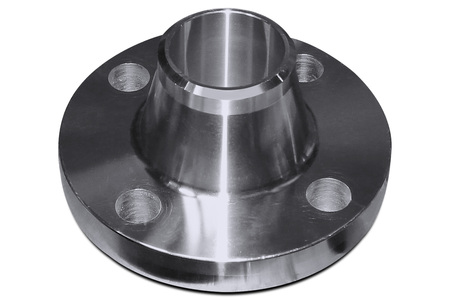 Flange with stainless neck Stock Photo