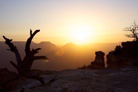 south rim: Sunrise over the Grand Canyon (South Rim, Yaki Point), Arizona, USA