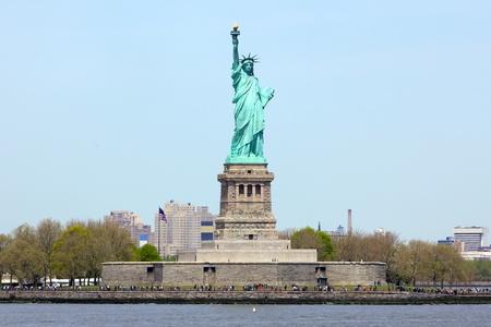 liberty island: Statua della Libert� a New York City Archivio Fotografico