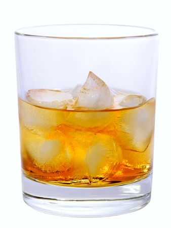 Godfather On The Rocks Cocktail isolated on white photo