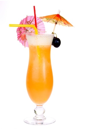 секс: Sex On The Beach коктейль изолированы на белом фоне Фото со стока
