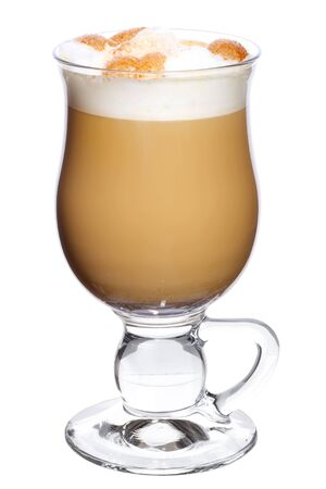 capuchino: Latte coffee isolated on white background Stock Photo