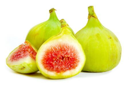 Green Figs isolated on white background