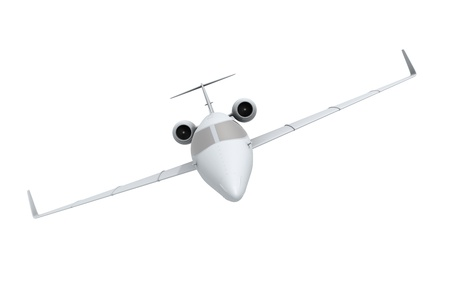 Front view of airplane on white background Stock Photo - 10670631