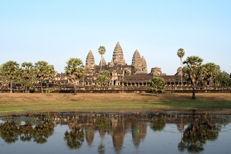 Angkor Wat Temple before sunset, Siem Reap, Cambodia. photo