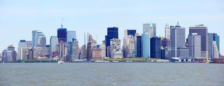 New York City downtown and Manhattan skyline panorama, USA  photo