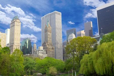 Central Park with Manhattan skyline, New York  photo