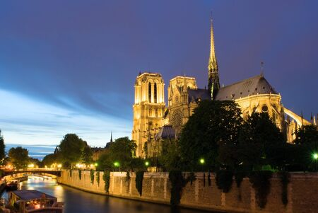 Notre Dame de Paris as seen from the Pont de L photo