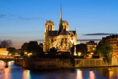 Notre Dame de Paris, back side photo