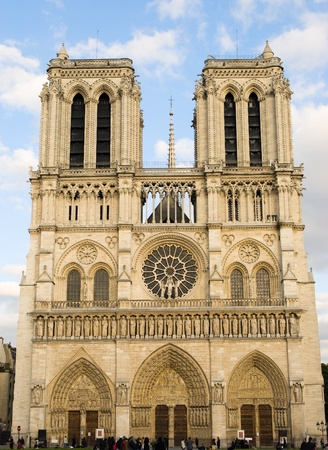 cathedrals: Notre Dame de Paris. Front view.