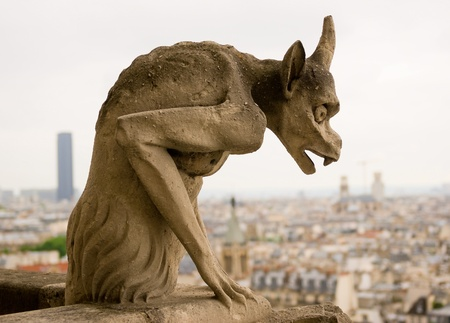 waterspuwer: Chimera van de Notre Dame de Paris.