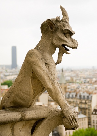 waterspuwer: Chimera van Notre Dame de Paris.
