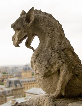 gargouille: Chim�re de Notre-Dame de Paris. Banque d'images