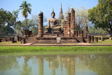 sukhothai: Wat Mahathat Temple in Sukhothai Historical Park Stock Photo