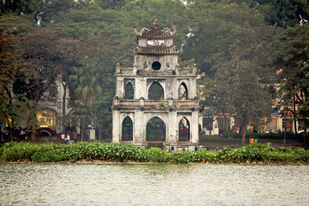 nam: Tortoise Pagoda on Hoan Kiem Lake, Viet Nam