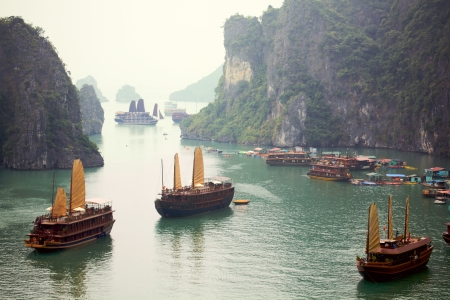 bay: Ha Long Bay, Vietnam  Stock Photo