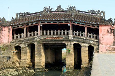 ponte giapponese: Ponte giapponese a Hoi An, Vietnam Archivio Fotografico