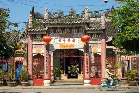 nam: Quang Dong Assembly Hall, Hoi An, Viet Nam Stock Photo