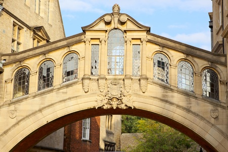 span: Bridge of Sighs at Hertford College, Oxford, England
