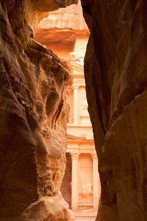 tresure: View of Tresure from Al-Siq, Petra, Jordan