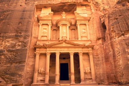 of petra: Ancient temple of Petra, Jordan