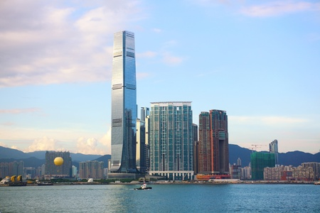 kowloon: International Commerce Centre and Kowloon skyline, Hong Kong
