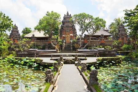 saraswati: Balinese temple with lotus pond, Ubud, Indonesia