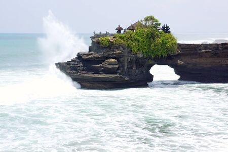 Balinese temple Tanah Lot complex, Bali, Indonesia photo