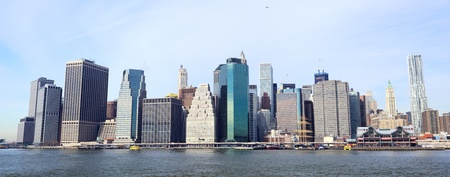 New York City Manhattan skyline panorama photo
