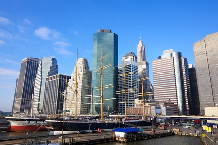 Lower Manhattan Seaport and Financial District in New York City photo