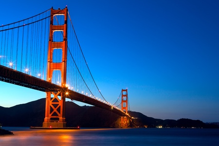 Golden Gate Bridge at sunset, San Francisco, California Stock Photo - 12842336