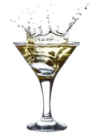 martini splash: Martini Splash isolated on white background